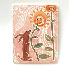 ceramic art tile via Etsy
