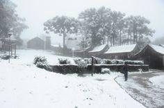 Neve em Caxias do Sul, 27 de Agosto, 2013.