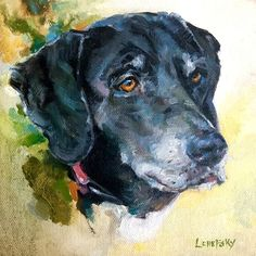 Dog Art Pet portrait commission oil painting by Heather Lenefsky. Bob Ross, Oil Painting Gallery, Palette, Wall Art Pictures, Dog Portraits, Portrait Paintings, Animal Paintings, Dog Art, Art Oil