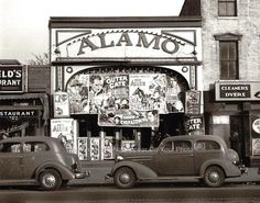 The Alamo Vintage Old Matinee Western Movie Theater