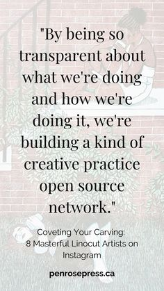 By being so transparent about what we're doing and how we're doing it, we're creating a kind of creative practice open source network. Linocut Artists, Teacher Forms, List Of Artists, Handwritten Fonts, Open Source, Bookbinding, Letterpress, Inspire Me, Nerd