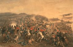 The Battle of Balaklava; the Scots Greys supported by the Enniskillings are coming to the rescue...