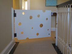 cute playroom swiss cheese baby gate