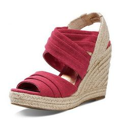 2014 spring and summer new arrival women wedges sandals knitted high-heels casual ladies  fashion shoes 8 $93.75