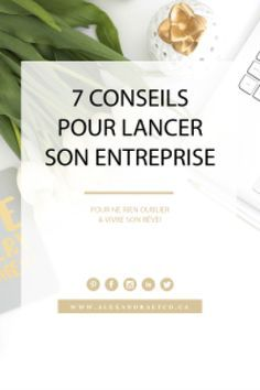 7 conseils pour lancer son entreprise- Alexandra & Co Business Planning, Business Tips, Online Business, Micro Entrepreneur, Business Entrepreneur, Buyer Persona, Startup, Web Design, Starting Your Own Business