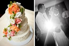 Door County, Wisconsin Fall wedding. Cake by FlourGirl Patissier. Reception at Sturgeon Bay Yacht Club. Photography by Matt Normann Photo.