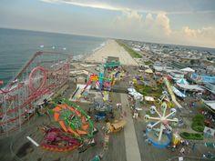 Seaside, NJ atop the ferris wheel