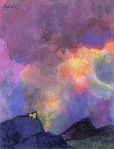 EMIL NOLDE Dark Mountain Landscape