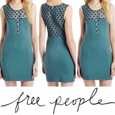 | Free People | Polka Dot Dress This super sexy Free People dress is brand new with tags. Never been worn. Stretchy jersey knit material that is very flattering.💥LOWEST PRICE, NO OFFERS💥 Free People Dresses Mini