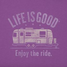 Women's Enjoy The Ride Airstream Crusher Tee