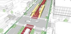 """These Are the 3 Bus Stop Types Needed For Sustainable Transit Solutions Bus stops designed for users """"to do more than just wait."""" Check out these tips and recommendations on how to improve streets through urban design. New Urbanism, Landscape And Urbanism, Urban Landscape, Architecture Portfolio, Architecture Design, Architecture Diagrams, Bus Stop Design, Urban Ideas, Public Space Design"""