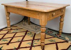 Fabulous Farm Table or Desk, Distressed Pine 1950