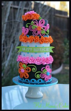 Flower quilling cake