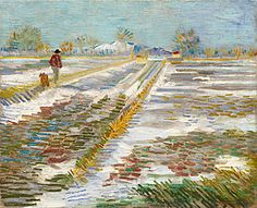 Vincent van Gogh, Landscape with Snow (Paysage enneigé), late February 1888