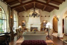 Old World Charm and well proportioned color from a Malibu mansion.