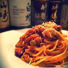 あ…朝ごはんなのでワイン無しです。 - 58件のもぐもぐ - ひよこまめとトマトのパスタ by lovepochiko