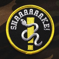 Metal Gear Solid inspired patch from www.bitmapd.com #gaming #mgs #metalgearsolid