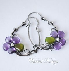 Violet Fine/Sterling silverAmethyst and Vessonite por vanini
