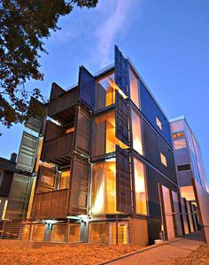 Apartment Building Made of Shipping Containers Goes Up in Washington DC