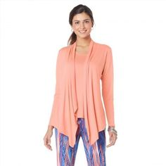 12.28$  Watch here - http://vifnd.justgood.pw/vig/item.php?t=myjoizl30458 - Serena Williams Flattering All-in-One Cardigan Tank Solid Papaya 1X NEW 380-789 12.28$