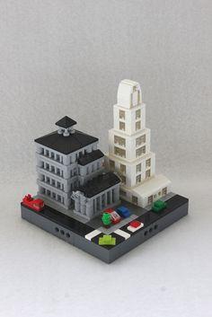 Micropolis City Block Lego Minecraft, Lego Moc, Lego Minifigure Display, Construction Lego, Micro Lego, Lego Boards, Lego System, Lego Architecture, Build Something