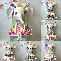 dolls by cloth and thread