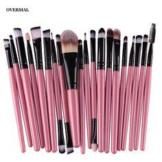 Pincéis de maquiagem, 20 pçs/set Maquiagem Jogo de Escova ferramentas Make-up Kit de Higiene Pessoal Lã Make Up Brush Set Overmal Atacado Popurlar Hot