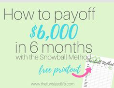 Learn about Dave Ramsey and the Snowball method to pay off debt, get out of debt and stay out of debt. Plus a Snowball method worksheet to help guide you.