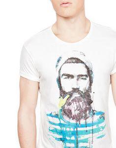 Bershka Serbia -Nautical print T-shirt