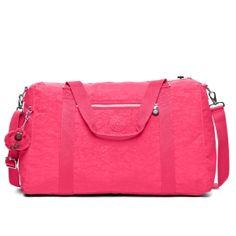 Itska Duffle Bag in Vibrant Pink  Overnight or weekend trip?  No problem!  Check out this gorgeous pink duffel bag!  #Kipling #KiplingSweeps