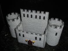 Plastic Canvas Castle Napkin Holder Empty | Flickr - Photo Sharing!