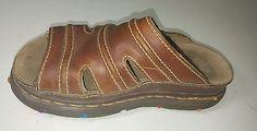 Brown Dr martens Docs sandals vintage size us 8 UK 7 leather sandals #1445