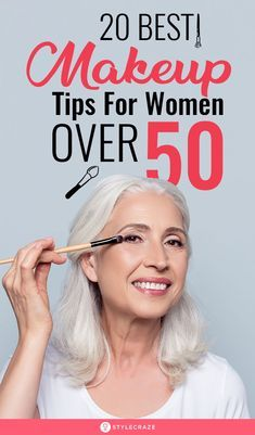 As your skin evolves with, you should up makeup and skincare game. Check out these 20 makeup tips for women over 50 to get that age-defying look. Makeup Tips Over 50, Simple Makeup Tips, Best Makeup Tips, Best Makeup Products, Hair And Makeup Tips, Makeup Tips For Beginners, Makeup For 60 Year Old, Makeup Tips For Older Women, Older Woman Makeup