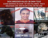 STOP Animal Murderer Millicent Anne Paul