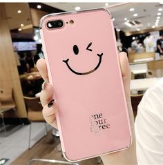 TPU Plating Mirror Smile Face Phone Case Back Cover for iPhone X 6 7 8 Plus Source by allisonhand Iphone 7 Plus, Iphone 8, Coque Iphone, Iphone Phone Cases, Best Mobile Phone, Best Cell Phone, Cell Phone Covers, Cell Phone Holder, Mobile Cases