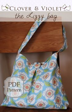 the Lizzy bag - just one yard (pdf sewing pattern)