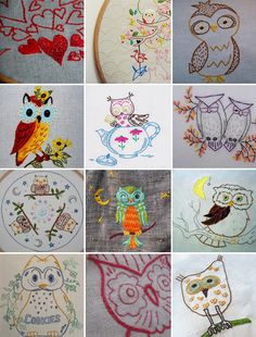 Stitched owls