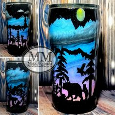 Vinyl Tumblers, Glitter Tumblers, Glitter Cups, Custom Tumblers, Tasse Thermos, Tumblr Cup, Cup Crafts, Painted Cups, Custom Cups