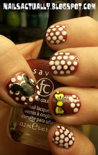 Just did these Minnie Mouse nails and I'm in <3 with them!