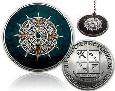 Geocaching Pendel Geocoin XXL Antik Silber (inkl. TAG) - NEU - trackbar -