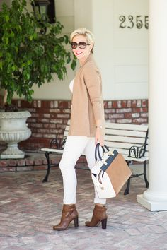 White and tan- fall outfit-Kacee from Life with Lipstick On