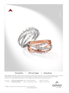 Advan Jewelry Ltd.  #HKJE #Magazine #Summer/Fall2016 #Advertisement #Jewellery…