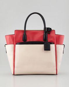 Atlantique Tote Bag, Orange/Shell by Reed Krakoff at Neiman Marcus.