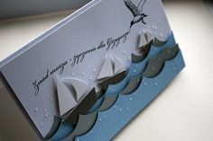 great water effect on this handmade card