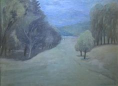 """Jean-Paul Lemieux, """"Dans le parc,"""" huile sur toile, x Jean Paul Lemieux, Canadian Painters, Claude, Les Oeuvres, Painting, Image, Collection, The Fifties, Canadian Art"""