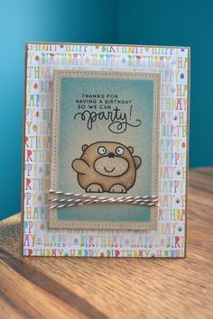 Paper smooches bear 1 Paper Smooches Chubby Chum Pals stamp set