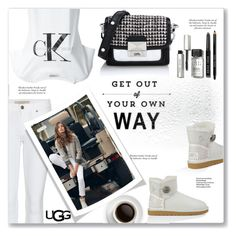 """""""Play With Prints In UGG: Contest Entry"""" by limara1 ❤ liked on Polyvore featuring Burberry, Karl Lagerfeld, UGG Australia, Calvin Klein Jeans, Bobbi Brown Cosmetics and thisisugg"""