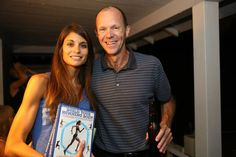 Build Your Running Body author Pete Magill at his launch party, with one of the book's models, Tanya.