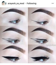 Make-up sieht Buch - makeup looks book Make-up sieht Buch Eyebrow Makeup Tips, Makeup Tutorial Eyeliner, Eye Makeup Steps, No Eyeliner Makeup, Makeup Videos, Skin Makeup, Beauty Makeup, Asian Eye Makeup, Edgy Makeup