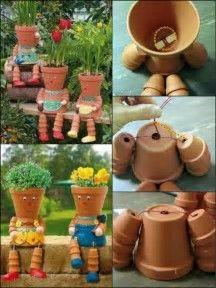 Resultado de imagen de flower pot people